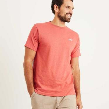 Bones Embroidered Logo Classic Plain T-Shirt Baked Apple Marl