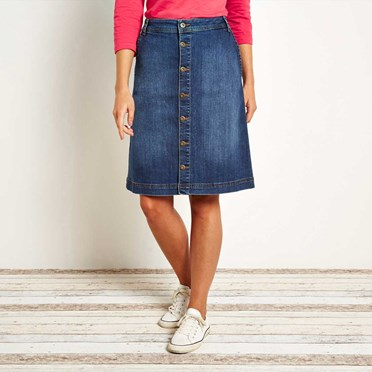Vixey Denim Skirt Dark Blue