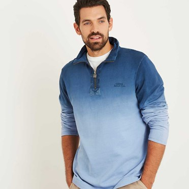 Redwood Dye 1/4 Zip Sweat Maritime Blue