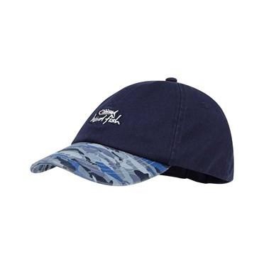Easton Print Peak Cap Maritime Blue