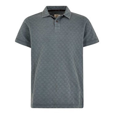 Herger Pigment Dyed Stripe Polo Grey