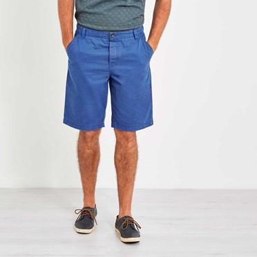 Hiram Cotton Twill Shorts Federal Blue