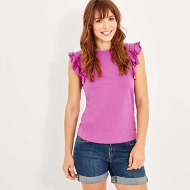 Karoo Quick Dry Plain T-Shirt Purple Orchid
