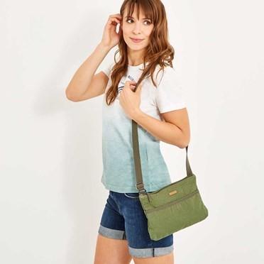 Farrow Cotton Cross Body Bag Avocado
