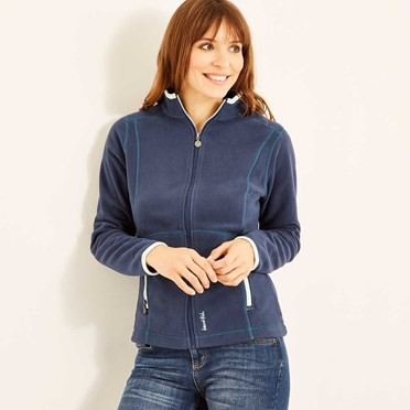 Christa Plain Fleece Jacket Dark Navy
