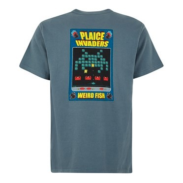Plaice Invaders Artist T-Shirt Dusty Teal