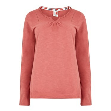Walkabout Slub Cotton T-Shirt Rhubarb