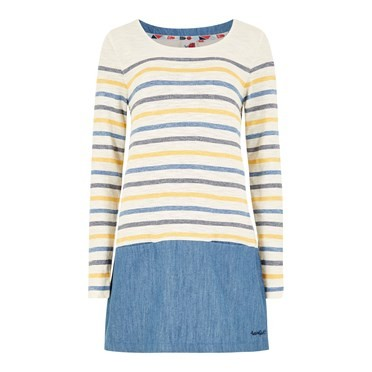 Alta Stripe Slub Jersey Tunic Scandi Blue
