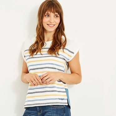Barberry Stripe Slub Jersey Tee Scandi Blue