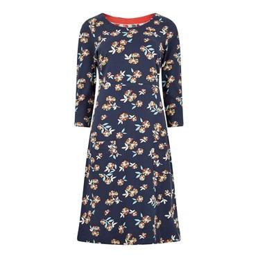 Starshine Printed Jersey Dress Indigo