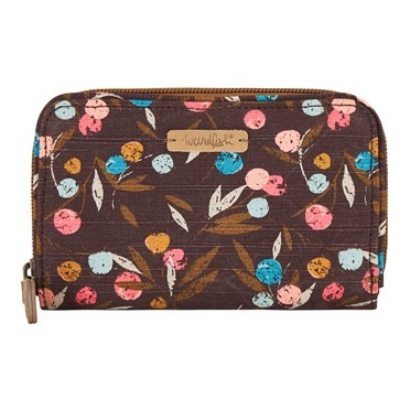 Tom Tom Printed Cotton Slub Purse Mulled Wine