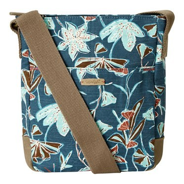 Amira Printed Slub Cross Body Bag Deep Sea Blue