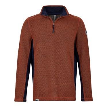 Stanford 1/4 Zip Active Macaroni Sweatshirt Brick Orange