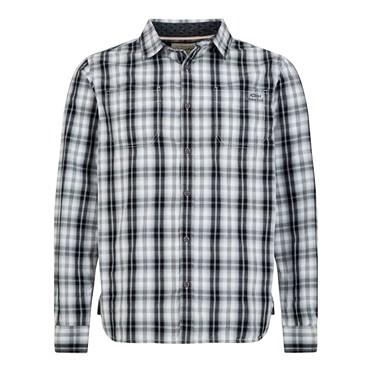 Lamarr Check Long Sleeve Shirt Washed Black