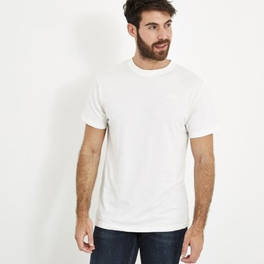 Fished Branded Graphic T-Shirt Dusty White Marl