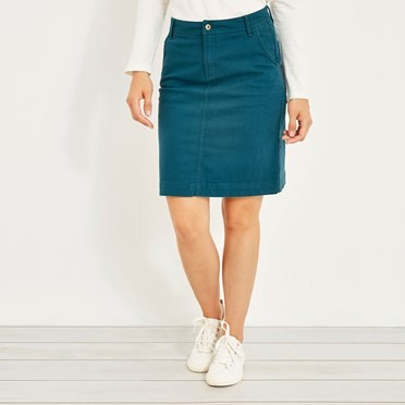 Irina Stretch Twill skirt Deep Sea Blue