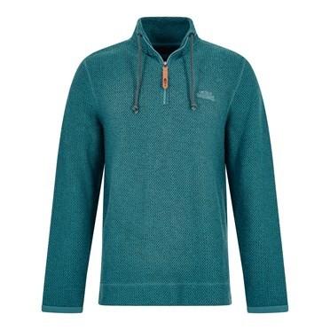 Skipper 1/4 Zip Classic Macaroni Sweatshirt Sea Green