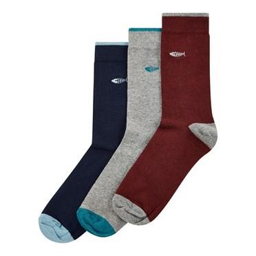 Altman Branded Sock 3-Pack Maritime Blue