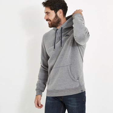 Stein Wf Surf Brand Popover Hoody Grey Marl
