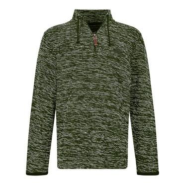 Flynn 1/4 Zip Nepp Macaroni Sweatshirt Duck Green