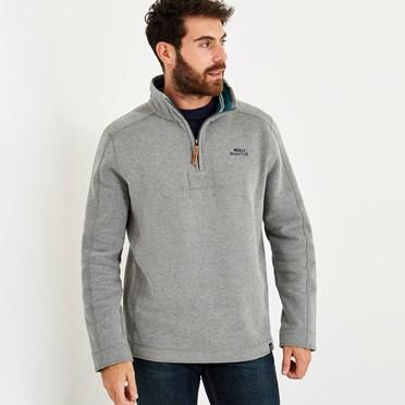 Alyth 1/4 Zip Sweatshirt Grey