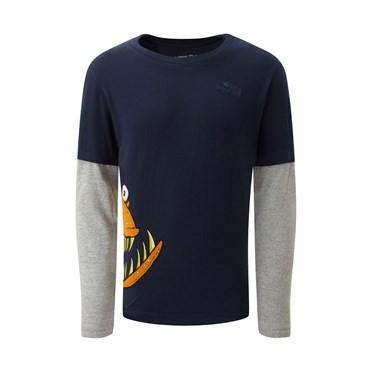 Hawk Long Sleeve Artist T-Shirt Maritime Blue