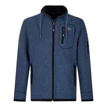 Whitburn Full Zip Lined Macaroni Sweatshirt Ensign Blue