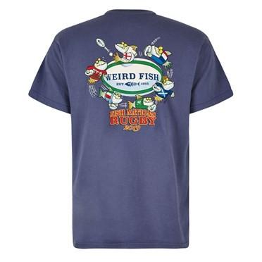 Fish Nations Artist T-Shirt Blue Indigo