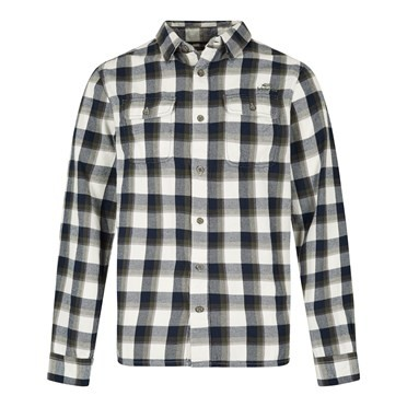 Currow Long Sleeve Brushed Check Shirt Dark Navy
