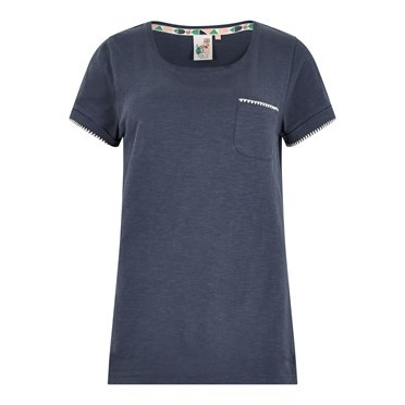 Tenby Slub Cotton T-Shirt  Dark Navy