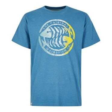 Summer Surf Branded Print T-Shirt Harbour Blue Marl