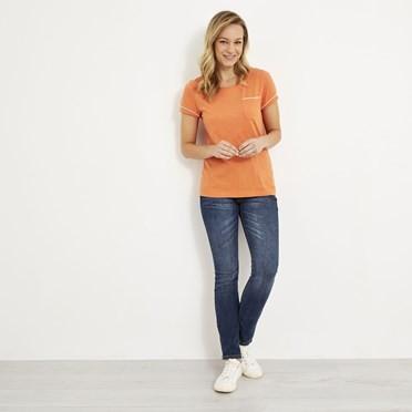 Tenby Slub Cotton T-Shirt  Cantaloupe