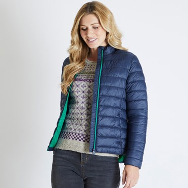 Olivia Wadded Jacket Dark Navy
