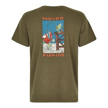 Weird Fishing Artist T-Shirt Khaki Green