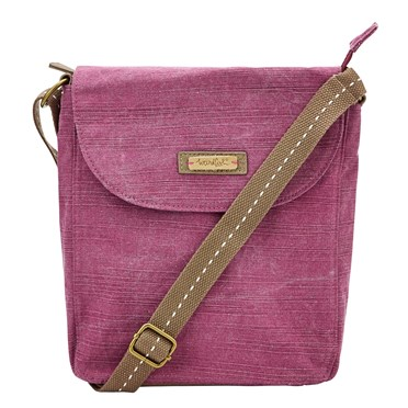 Loula Cotton Cross Body Bag Purple Potion