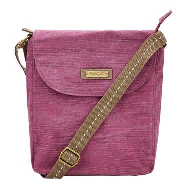 Loula Cotton Cross Body Bag Purple Potion