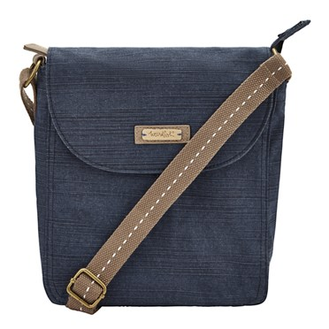 Loula Cotton Cross Body Bag Dark Navy