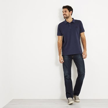 Lenny Pique Polo Shirt Maritime Blue