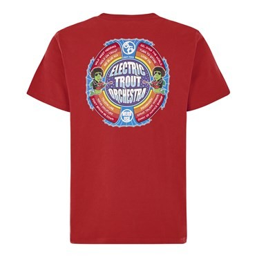 Electric Trout Artist T-Shirt Dark Red