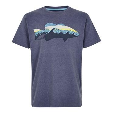 Trout Graphic T-Shirt Blue Indigo Marl