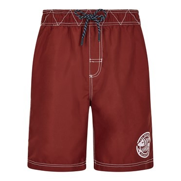 Cork Branded Board Shorts Retro Red