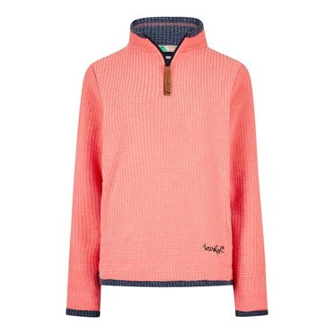 Beyonce 1/4 Zip Grid Fleece Orchid Pink