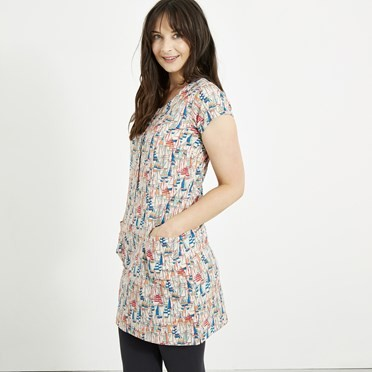 Alanis Printed Stretch Tunic Shell