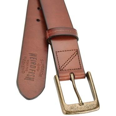 Keylor Leather Belt Brown