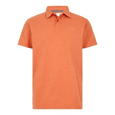 Quay Branded Polo Shirt Dark Rust Marl