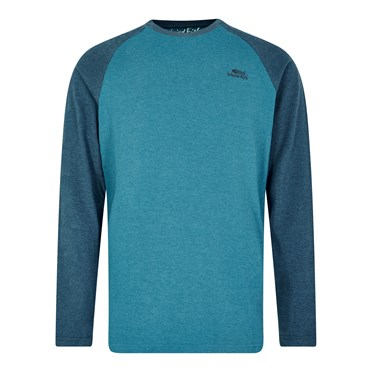 Askill Plain Long Sleeve T-Shirt Blue Jay Marl