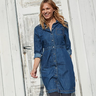 Greta Denim Dress Dark Denim