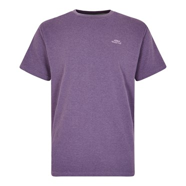 Fished Plain Branded T-Shirt Light Grape Marl