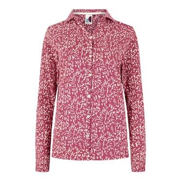 Ginny Floral Printed Cotton Jersey Shirt Malaga