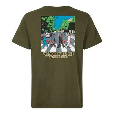 Crabbey Road Artist T-Shirt Dark Olive